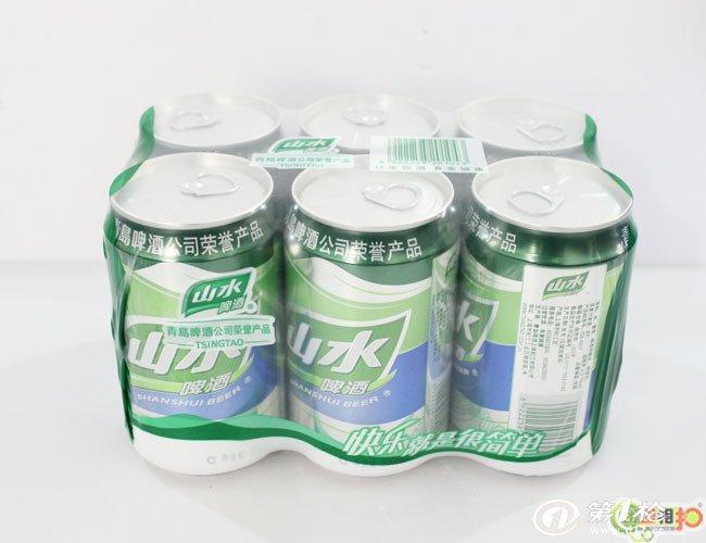 供应拉罐山水啤酒【330ml*6听*4组】