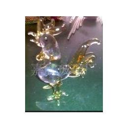 <em>彩色玻璃</em>公鸡,玻璃工艺品,<em>彩色玻璃</em>工艺品
