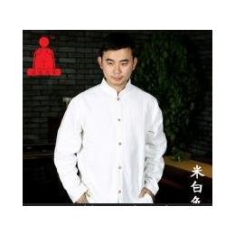 空空元素苎麻棉禅衣男居士服禅修打坐中式唐装长袖衬衫瑜伽服上衣
