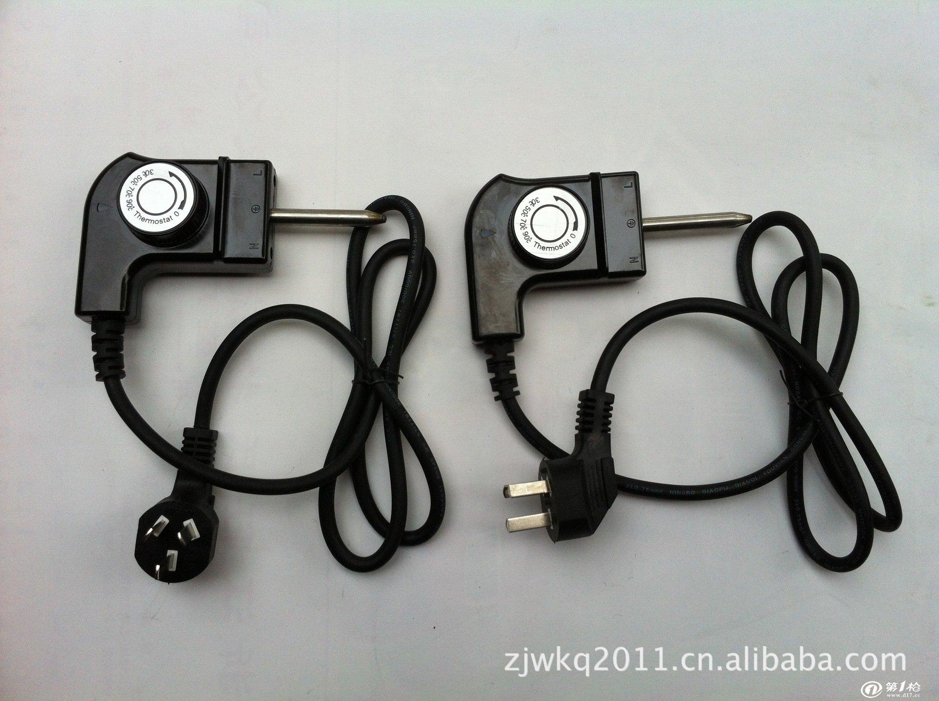 暖气片加热棒,暖气片电热管专用配件——30-90度插入式温控器