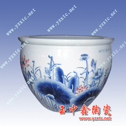 供应各种规格景德镇陶瓷大缸陶瓷睡莲缸