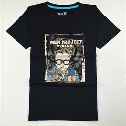 潮流压花T恤男式短袖衫夏季时尚T恤衫