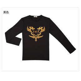 秋季新款t恤男长袖纯棉圆领时尚印花打底衫批发