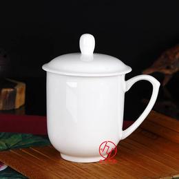 景德镇纯白陶瓷茶杯厂家可定制