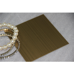 衢州厂家定制真空电镀拉丝仿青古铜不锈钢板