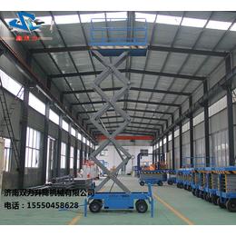 济南双力移动剪叉式升降平台9米移动升降机高空作业平台