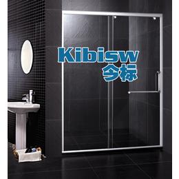 定制一字形隔断淋浴房 浴室屏风钢化玻璃移门3C认证浴室淋浴房