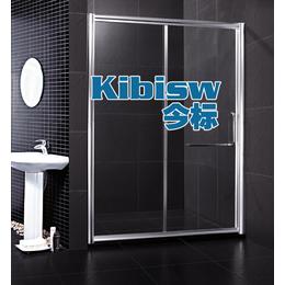 工厂直销太空铝淋浴房玻璃隔断 可尺寸定制一字形浴室淋浴间玻璃
