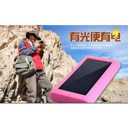 双LED灯超薄太阳能移动电源3200毫安