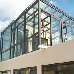 彩尼斯门窗 定制生产合金平顶阳光房 景区时尚玻璃房