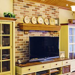 彩砖文化石电视背景墙砖室内仿古砖田园瓷砖9588