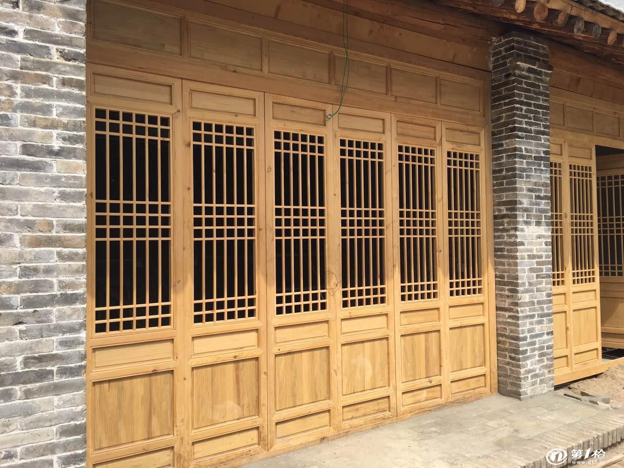 西安松木门窗 仿古门窗 实木门窗 古建门窗 花阁门窗供应