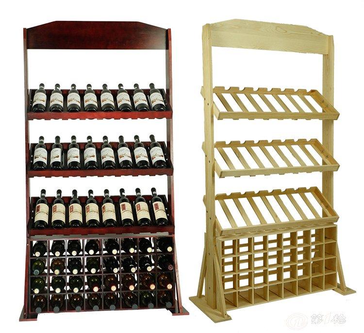 红酒架红酒展示架挂杯红酒架实木立式葡萄酒架倒挂酒