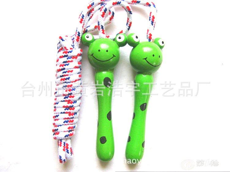 儿童可爱小动物木质彩色跳绳