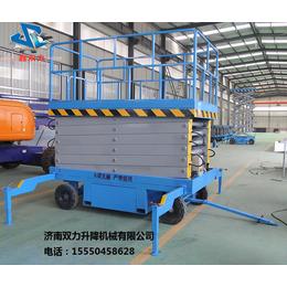 济南双力直销12米升降机移动升降平台载重500KG升降货梯