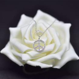 水晶钻纯银日韩国项链女锁骨链简约百搭