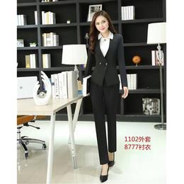 黑色一个扣子女款西服 商场会议女装