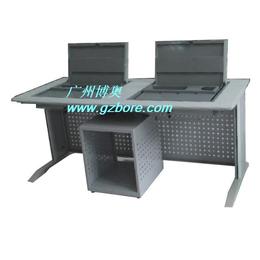 博奥BR047六边形翻转电脑桌 洛阳会议室电脑翻转桌
