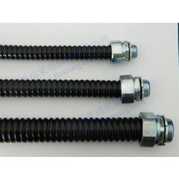 阻燃包塑蛇皮管 福莱通FSP型镀锌钢带加PVC包塑波纹管