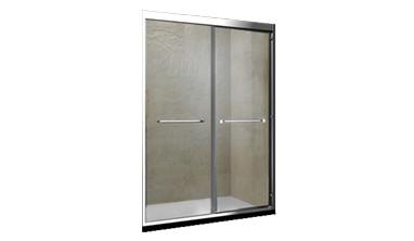 福瑞不锈钢淋浴房隔断定制钢化玻璃平移门