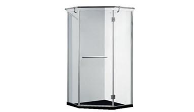 福瑞淋浴房不锈钢钻石型浴室钢化玻璃门
