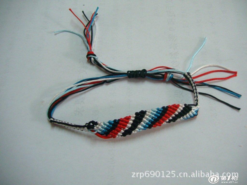 线绳编手链方法