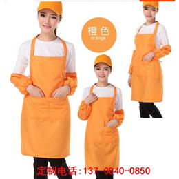 QW0125晴优公主韩版卡通害羞熊条纹花边长款围裙套装2件套