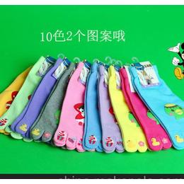 新款彩色可爱五指袜10色爆款全棉点胶女式五指袜厂家直供