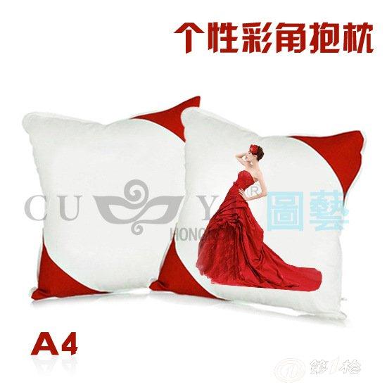 批发热转印空白抱枕 40*40cm个性diy抱枕 彩角抱枕 枕