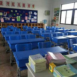 厂家直销双人学生课桌椅塑钢学校写字台学习桌