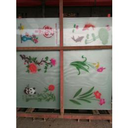布纹玻璃  布纹乳化  丝印 门头花 沙河厂家直供
