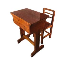 实木课桌椅单人课桌学校课桌