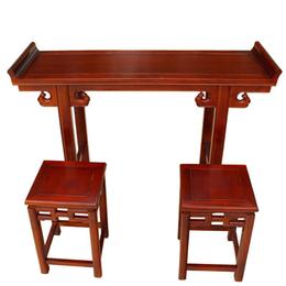 国学班仿古国学课桌椅 实木国学桌 双人学生中式课桌
