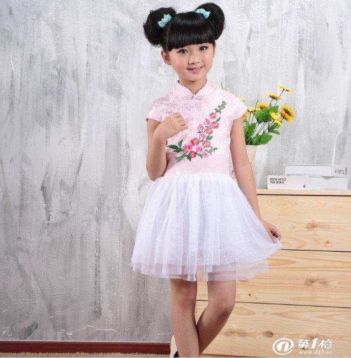 儿童连衣裙 夏季女童公主裙 旗袍唐装 演出服礼服 纱裙 一件代发