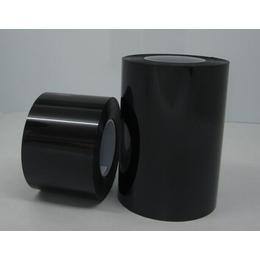 黑色PET遮光胶带 0.1MM黑黑单面胶带