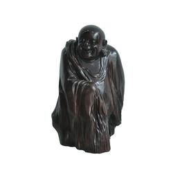 古沉木雕刻艺术品 JXLYQ00022 笑佛