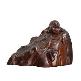 古沉木雕刻艺术品 JXLYQ00023 笑佛