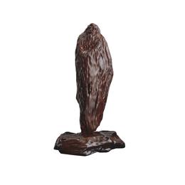 古沉木雕刻艺术品JXLYQ00019 指天问道