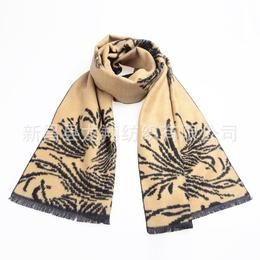 真丝拉绒围巾 新款提花围巾定制批发厂家 出口原单披肩围巾