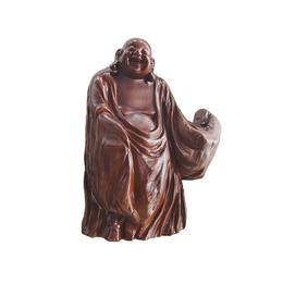古沉木雕刻艺术JXLYQ00034 笑佛