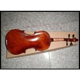 高级独板小提琴乌木配件斜虎纹