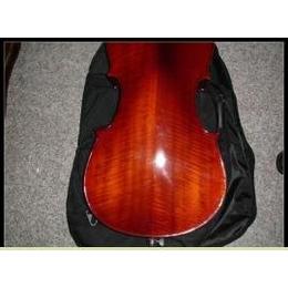 供应纯手工拼板虎纹中提琴