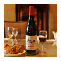 法国新教皇城堡干红葡萄酒