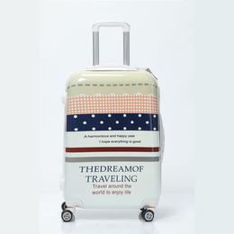 骏仕学生行李箱印花拉杆箱女万向轮小清新旅行箱