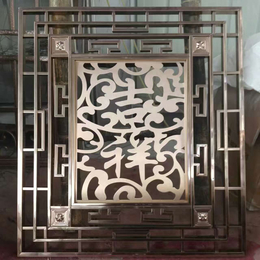 厂家定制中式拉丝青古铜不锈钢装饰屏风花格