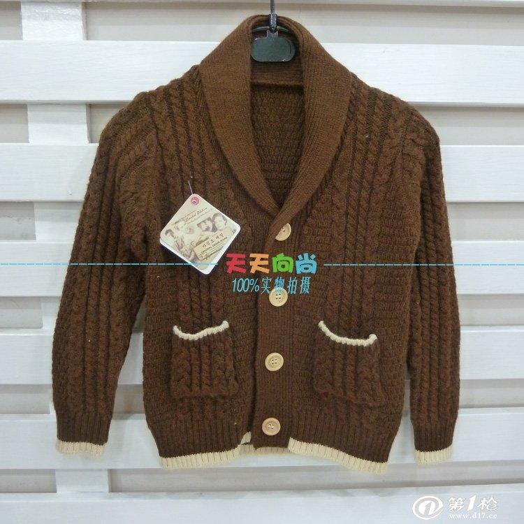 批发供应韩国童装爆版羊毛开衫儿童羊绒混纺毛衣 精品