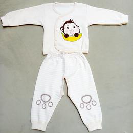 新生儿衣服彩棉开衫服六个月套装 宝宝内衣 厂家直销 批发定制