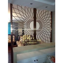 太阳花不锈钢屏风隔断酒店会所客厅不锈钢屏风玫瑰金不锈钢屏风