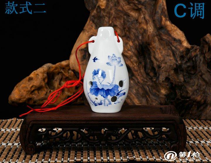 六孔陶笛 陶瓷名族乐器 c调精品6孔陶瓷乐器 送曲谱  【特点】:宝贝