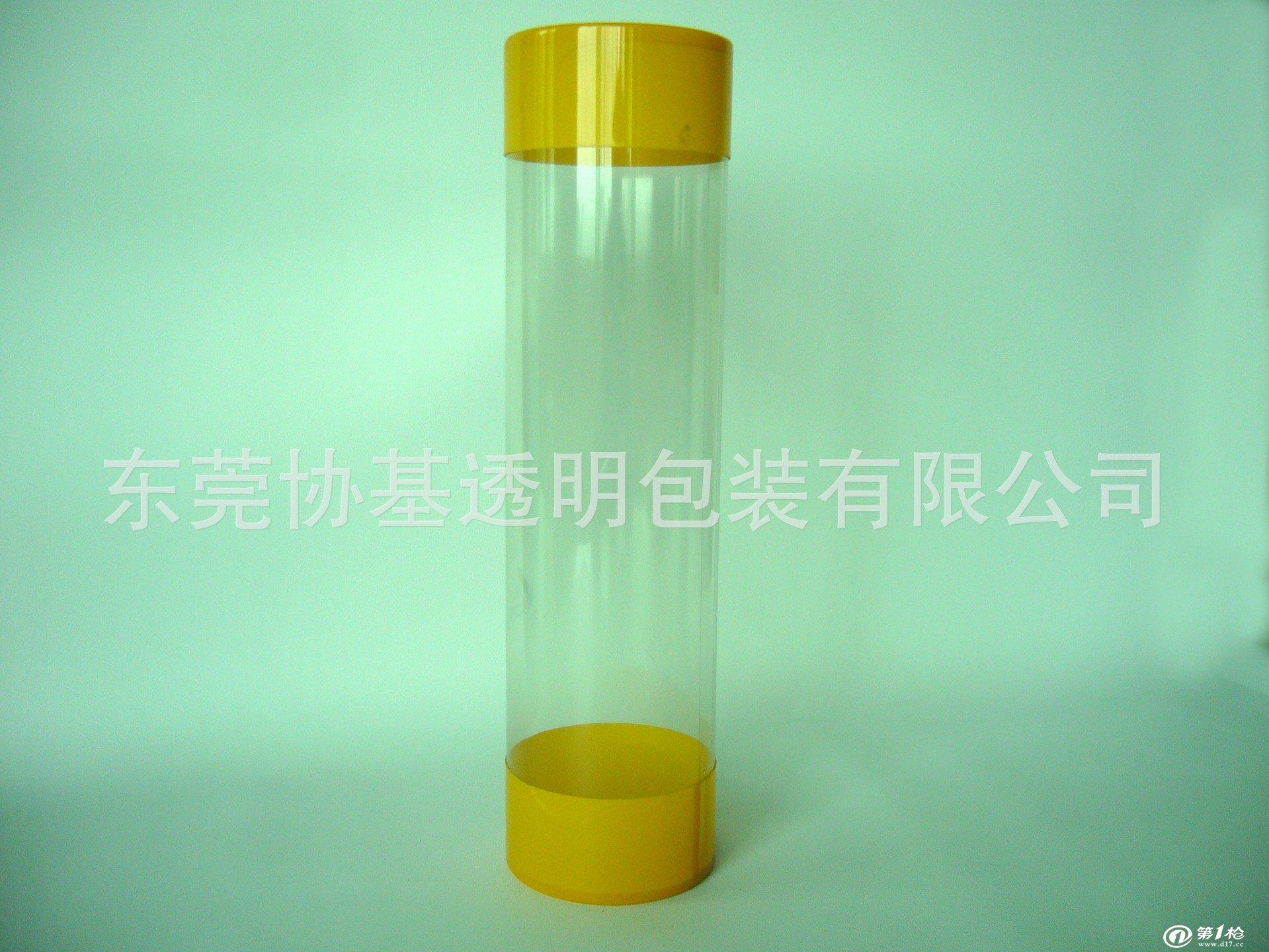 供应pvc透明圆型包装盒,圆筒盒,pet卷边pvc筒